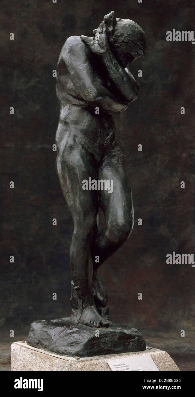 'Eve; français: France, d'abord modélisé vers 1881, ce cast 1968 Musée Rodin (9/12) Sculpture bronze 68 x 19 x 25 in. (172,72 x 48,26 x 63,5 cm); Poids 438 lbs Don de B. Gerald Cantor Art Foundation (M.73.108.2) Sculpture européenne en ce moment sur la vue du public; ce cast: 1968 (Musée Rodin 9/12); ' Banque D'Images