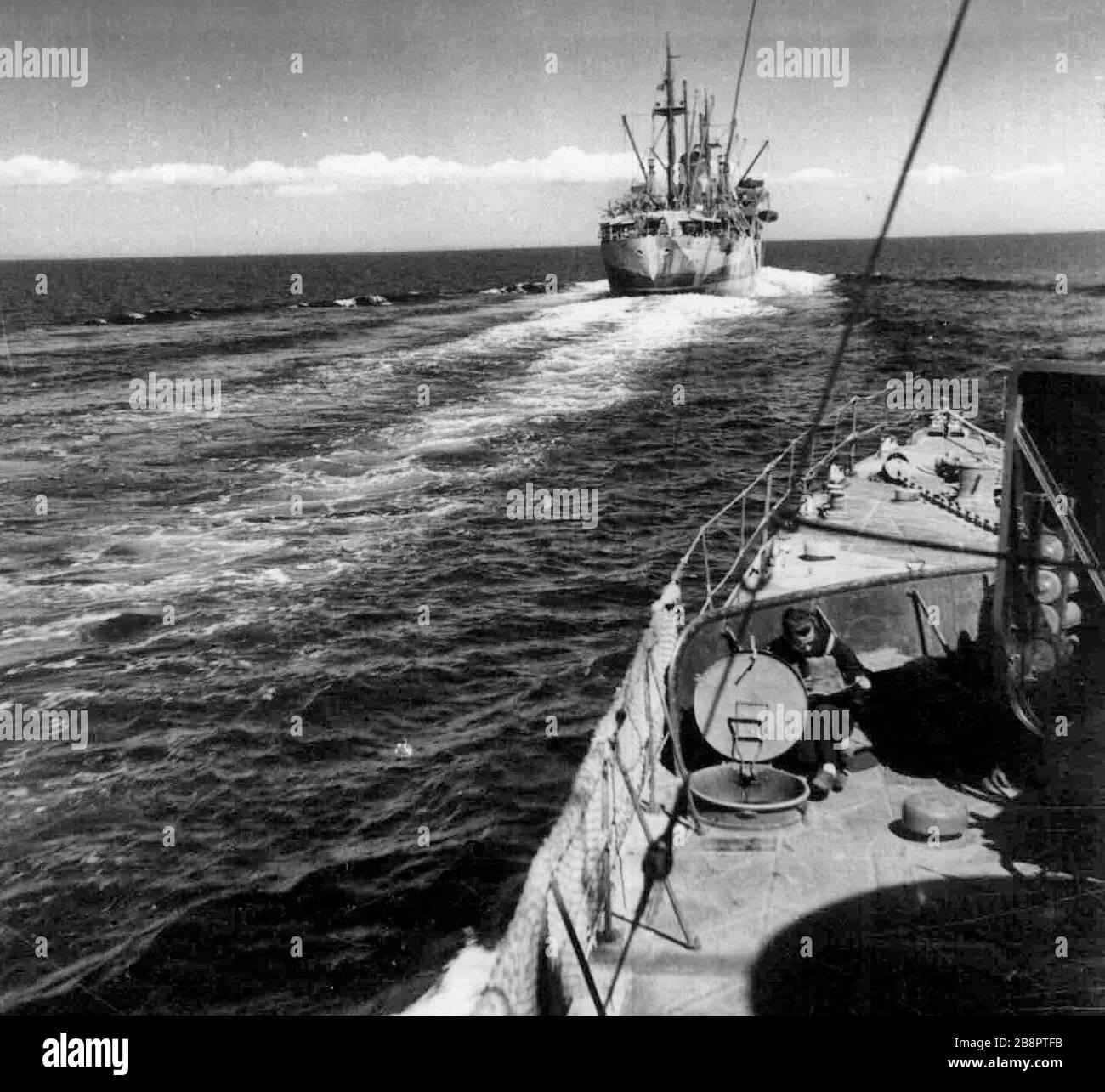 Convoi italien naviguant vers l'Afrique du Nord 1941. 22 octobre 1941 Banque D'Images