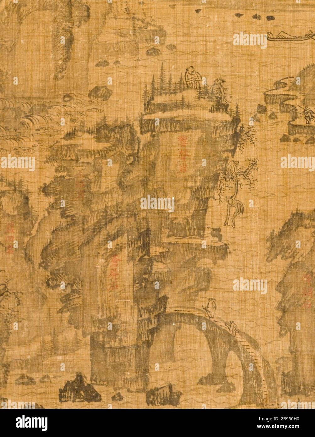 """""""Le sixième des neuf virages Le Mont Wuyi, Chine (image 3 de 5); Anglais: Corée, Korean, Dynastie Joseon (1392-1910), 17e siècle encre, défilement pendaison sur ramie chanvre ou de droit: 20 3/4 x 23 1/8 in. (52,71 x 58,74 cm); le mont: 48 3/4 x 25 in. (123,83 x 63,5 cm); rouleau presseur: 27 1/4 in. (69,22 cm) achetés avec les fonds du musée (M2000.15.20); l'art coréen date du 17ème siècle QS:P571,+1650-00-00T00:00:00Z/7; ' Banque D'Images"""