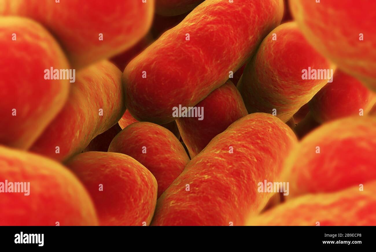 Image conceptuelle de bactéries. Banque D'Images