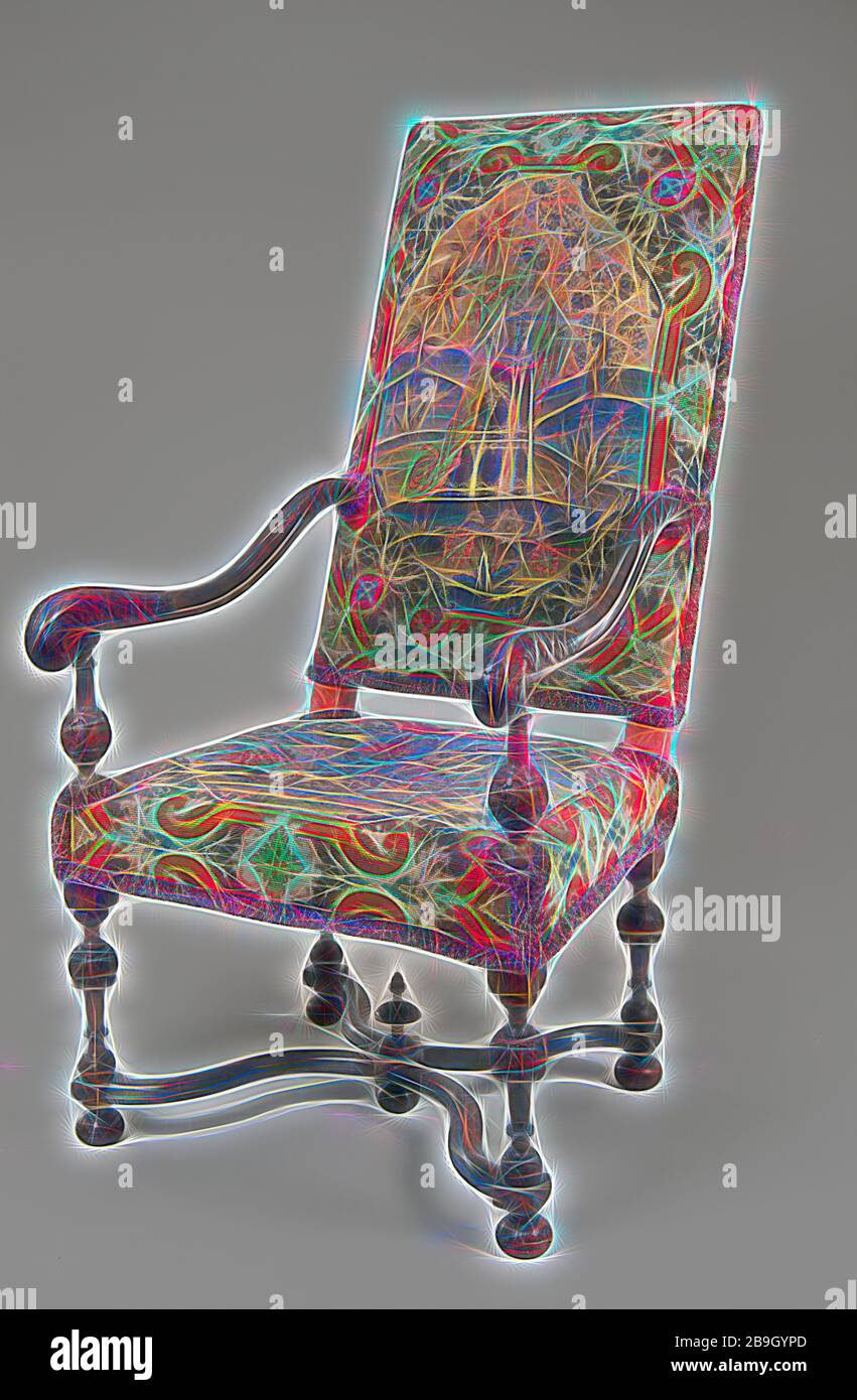 Upholstered Fabric Armchair Banque D Image Et Photos Alamy