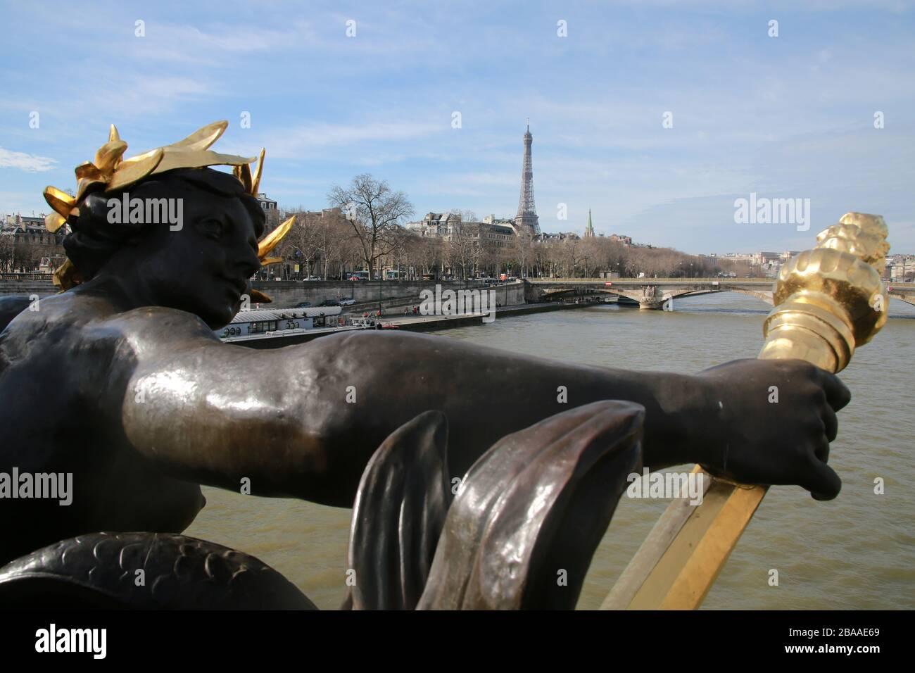 La Seine, Paris, France Banque D'Images