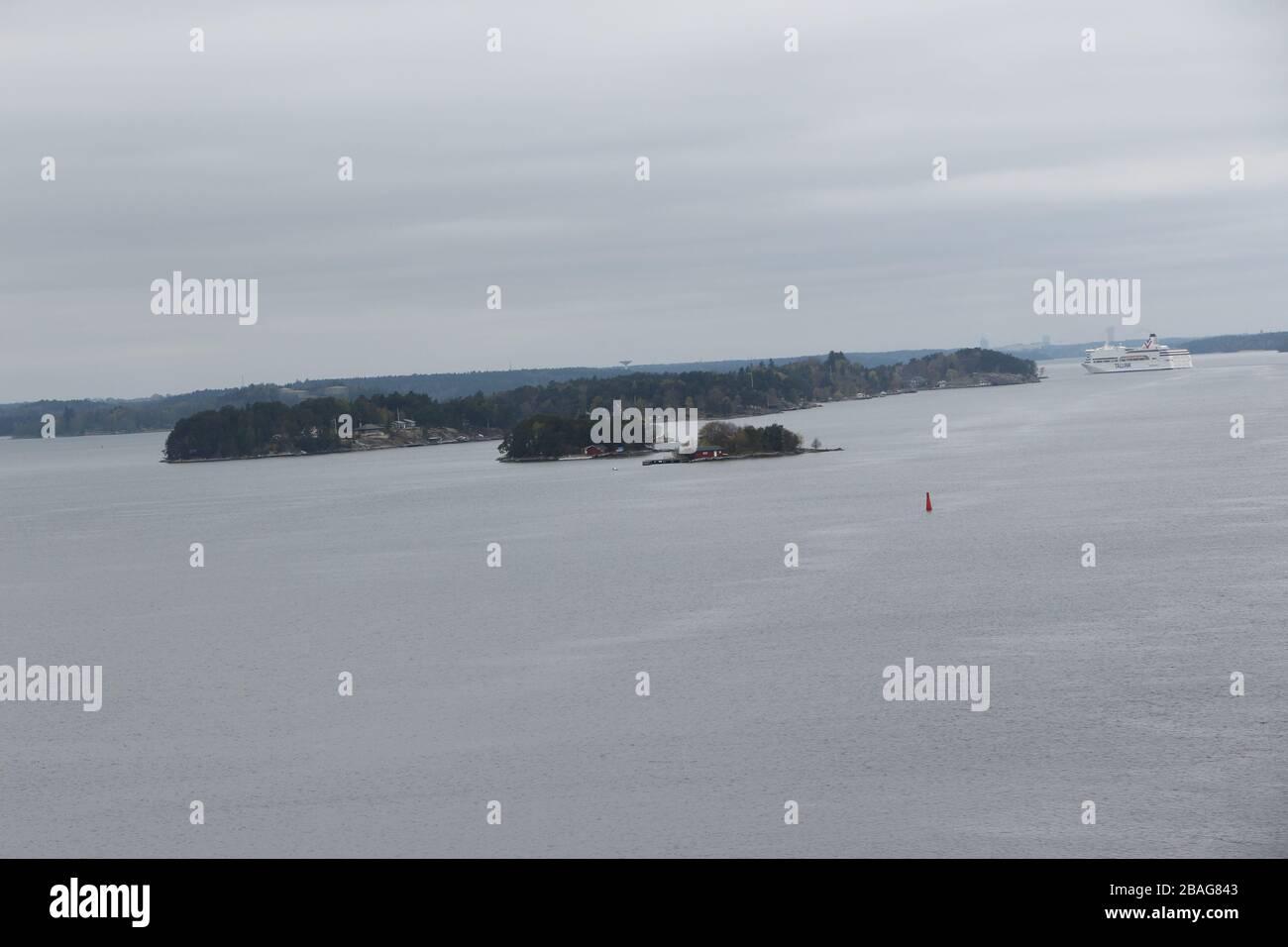 Blick auf den Schärengarten vor Stockholm à Schweden Banque D'Images