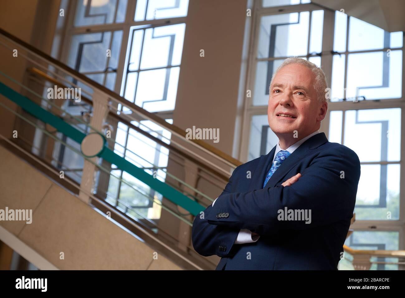 Malcolm Wright Directeur général pour la santé et les soins sociaux et Directeur général de NHS Scotland Banque D'Images
