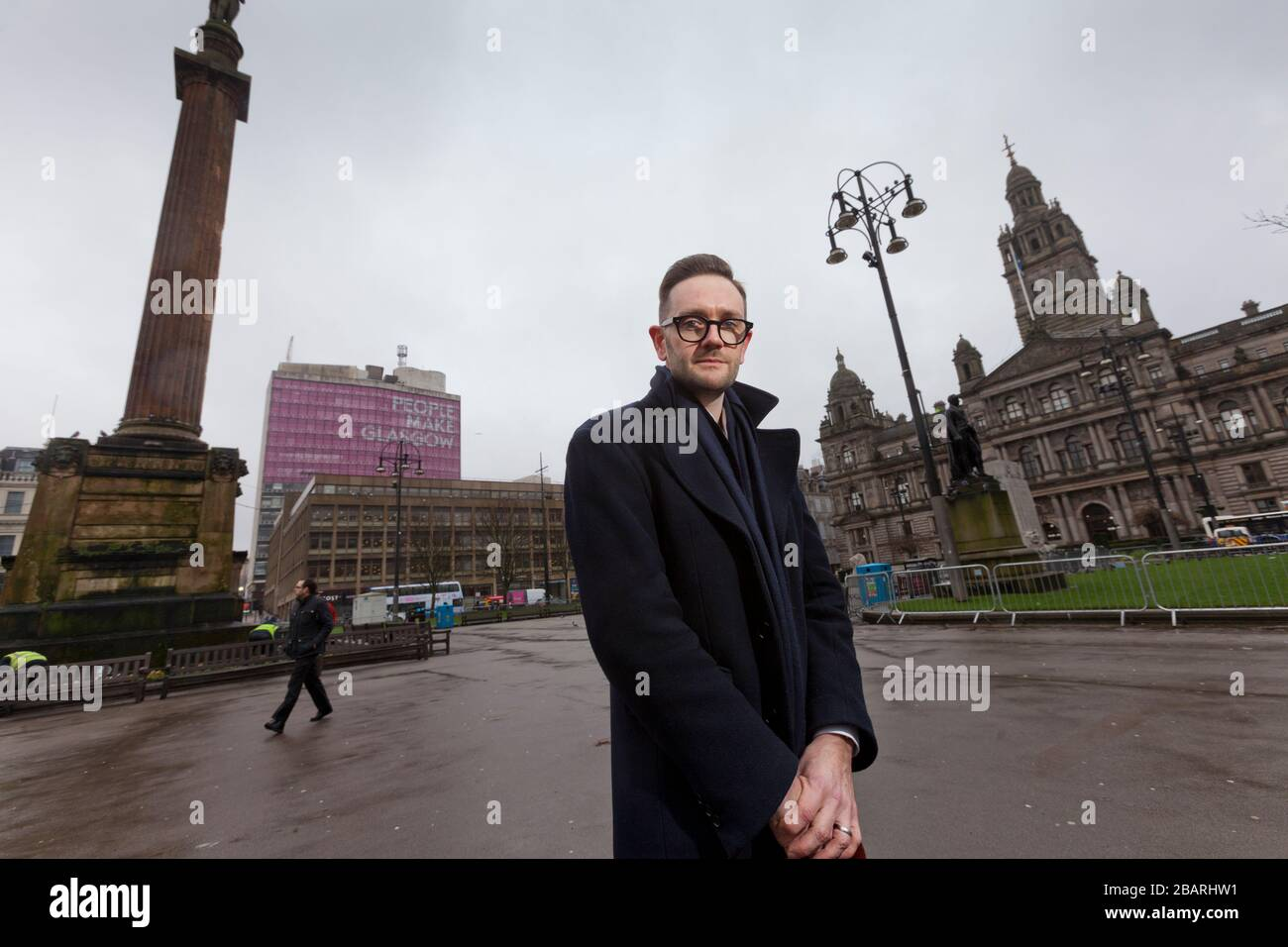 Chris Stark Directeur général du Comité des changements climatiques photographié à George Square, à Glasgow Banque D'Images
