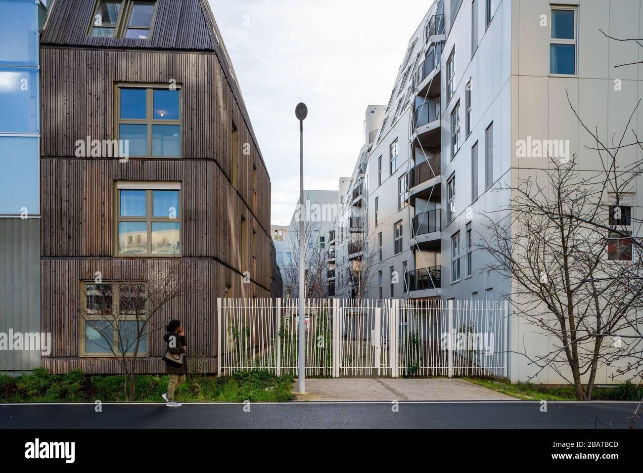 Boulogne Billancourt. Architecture Traversée Jules Guesde Banque D'Images