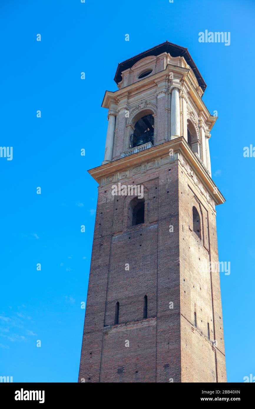 Tour de la cathédrale Saint Jean-Baptiste à Turin Banque D'Images