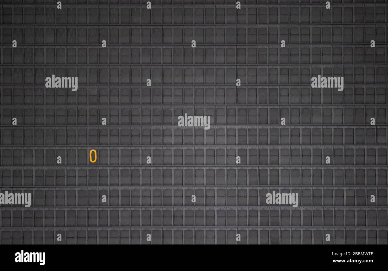 Stuttgart, Allemagne. 01 avril 2020. Le panneau d'affichage du terminal 3 de l'aéroport affiche un zéro ou un « O ». En raison des restrictions imposées par la pandémie de Corona, il n'y a actuellement pratiquement aucun trafic public à l'aéroport. L'aéroport de Stuttgart présente ses chiffres pour 2019 lors d'une conférence de presse en ligne. Crédit: Marijan Murat/dpa/Alay Live News Banque D'Images