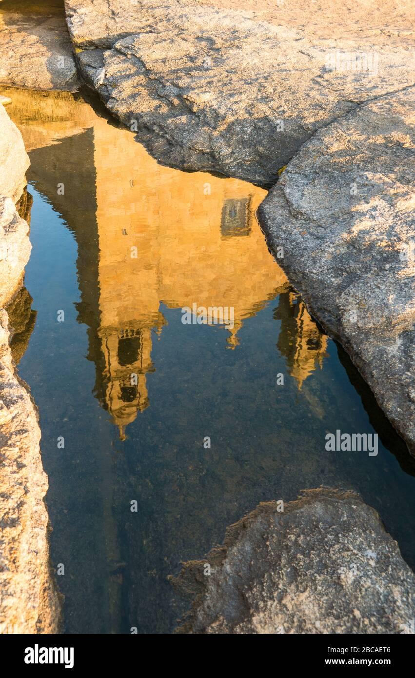 Espagne, côte nord, Galice, MUXIA, lieu de pèlerinage, Santuario da Virxe da Barca, réflexion Banque D'Images