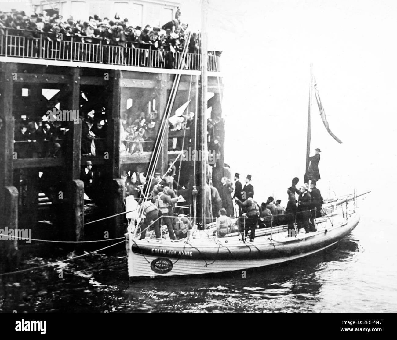 Le bateau de sauvetage Edith et Annie, Southport, époque victorienne Banque D'Images