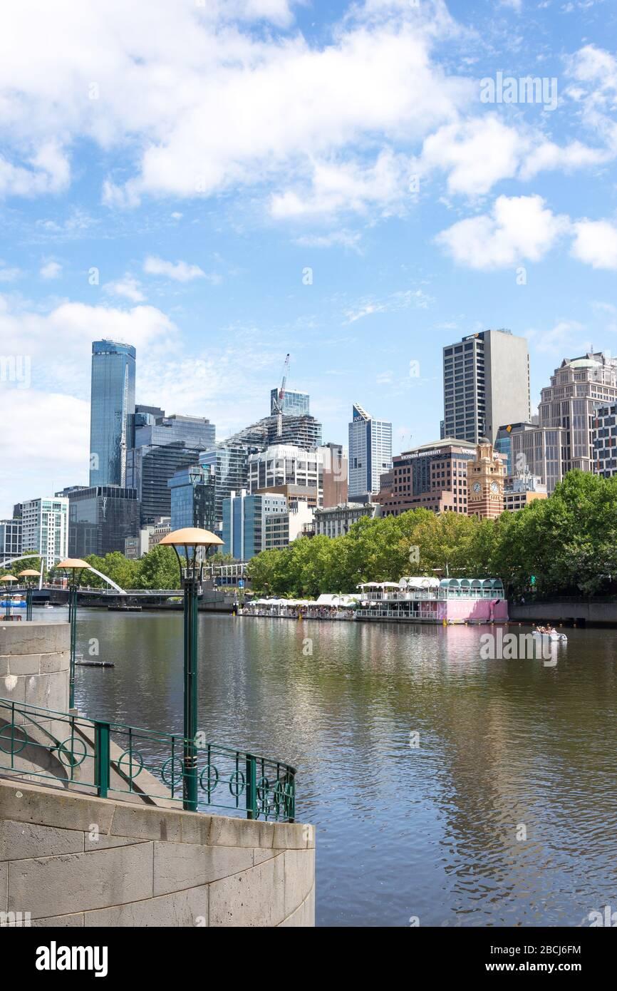 Quartier central des affaires (CBD) de Southbank Promenade, Southbank, Melbourne, Victoria, Australie Banque D'Images