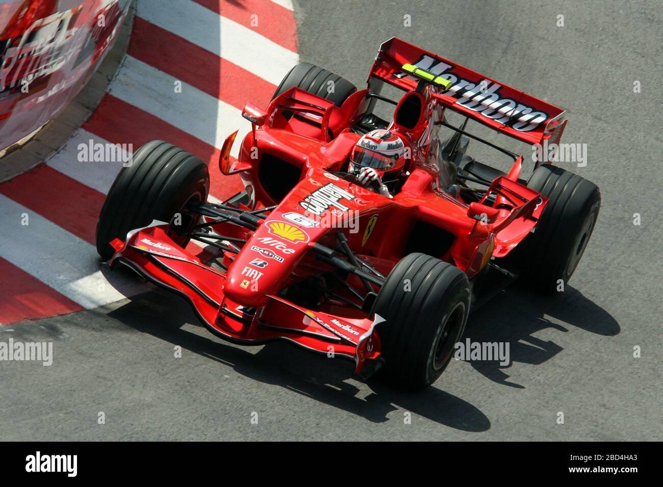 Kimi Raikkonen, Ferrari F2007, Monaco GP 2007, Montecarlo Banque D'Images