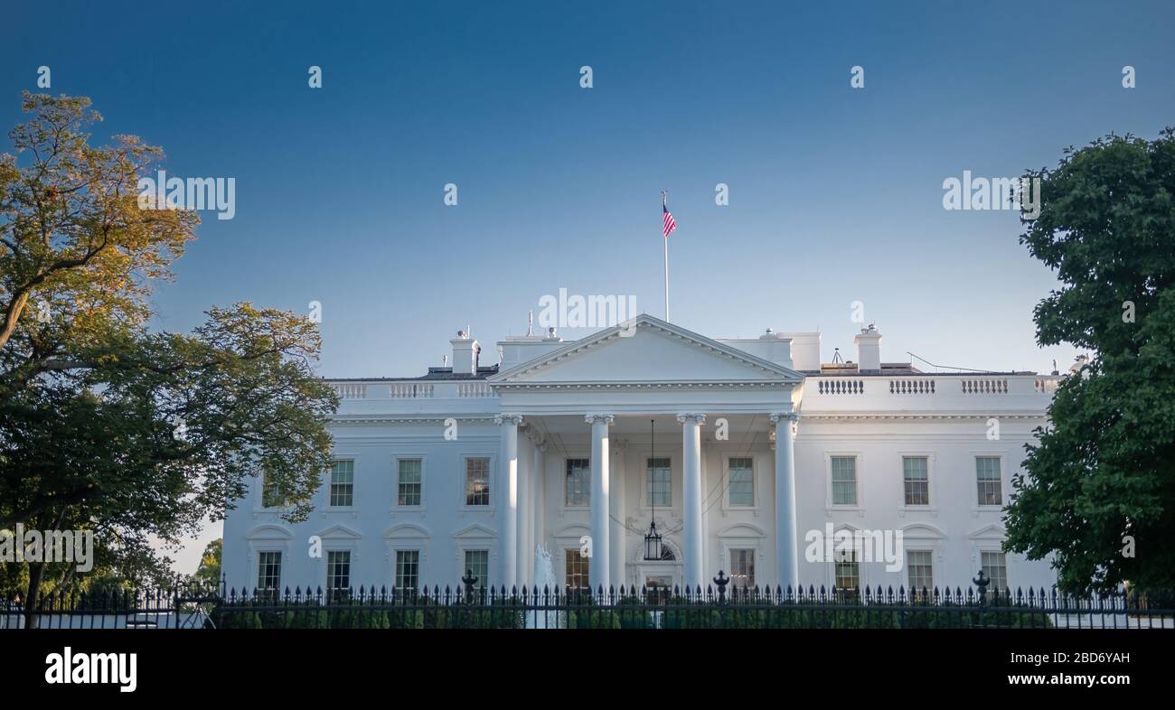 Maison Blanche, Washington DC, USA Banque D'Images