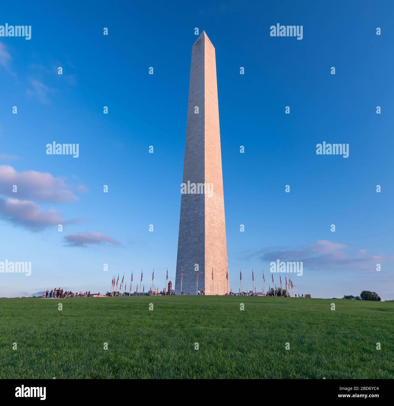 Monument de Washington à Washington DC, États-Unis d'Amérique, États-Unis Banque D'Images