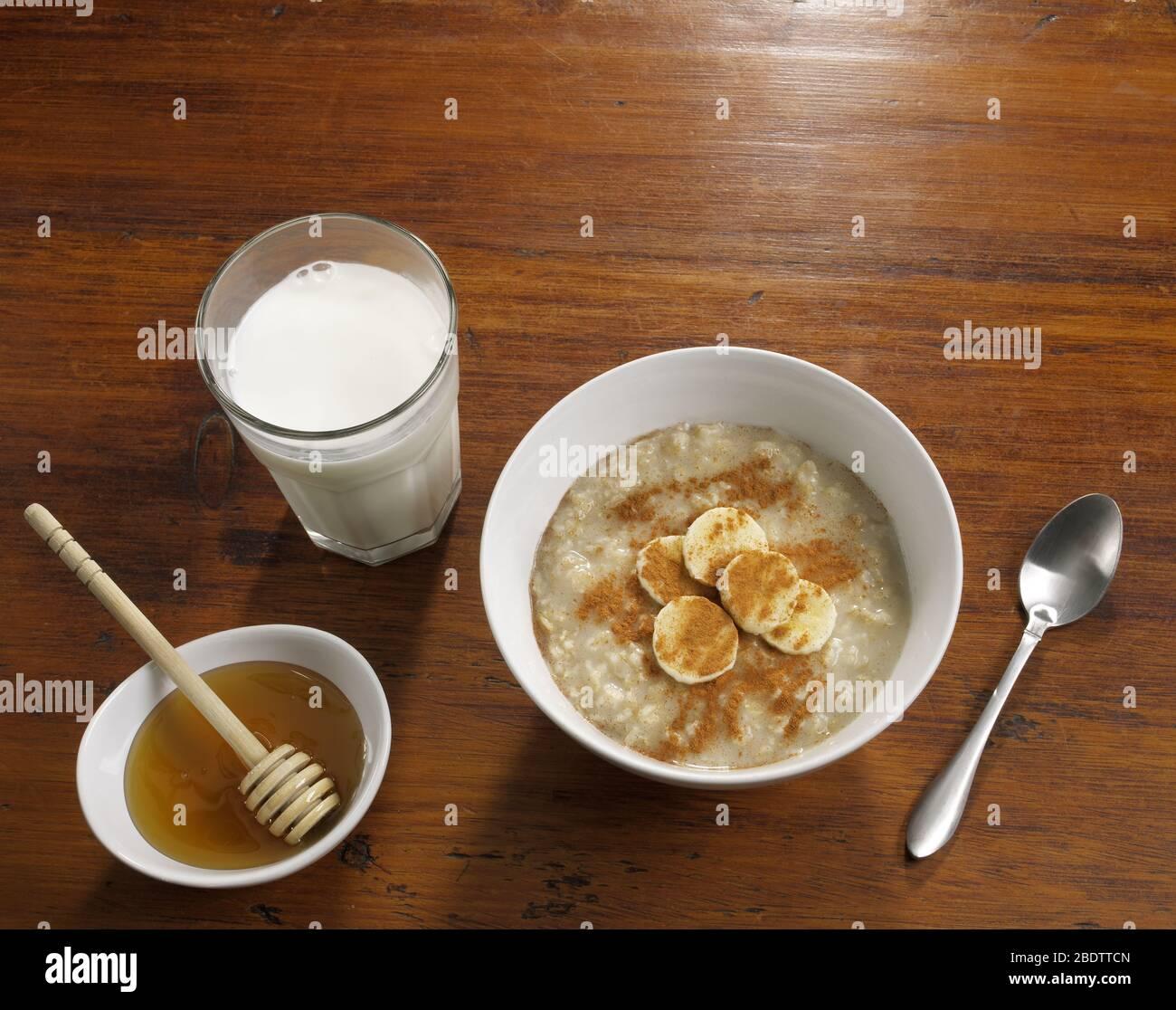 Bol de céréales petit déjeuner Banque D'Images