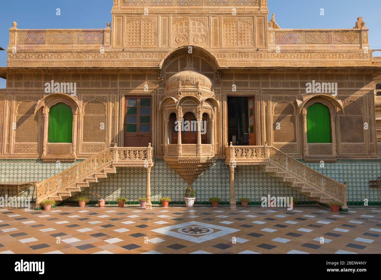 Jawahar Vilas Mandir Palace Jaisalmer Rajasthan Inde Banque D'Images