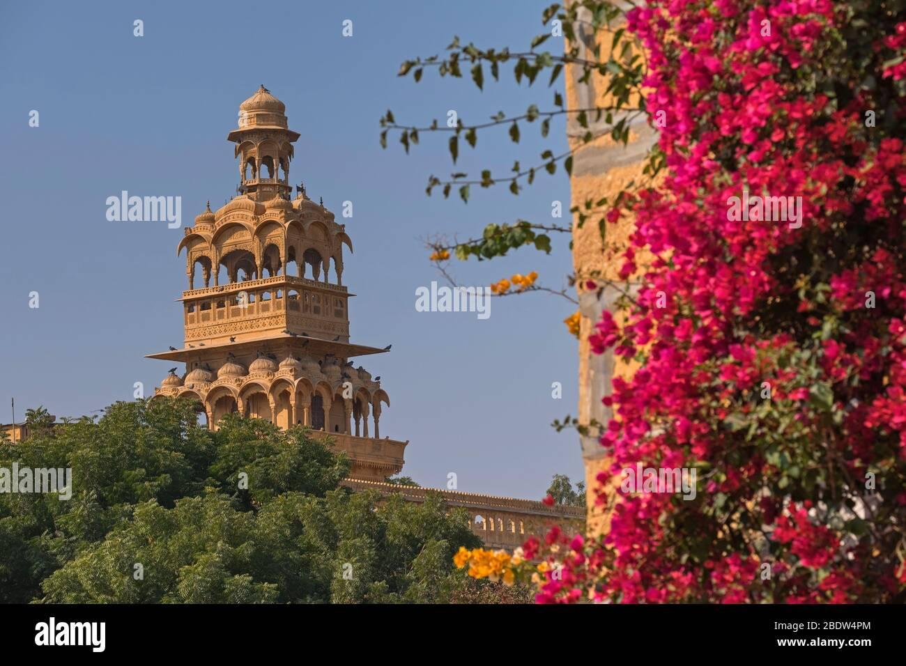 Tour de Tazia Badal Vilas Mandir Palace Jaisalmer Rajasthan Inde Banque D'Images