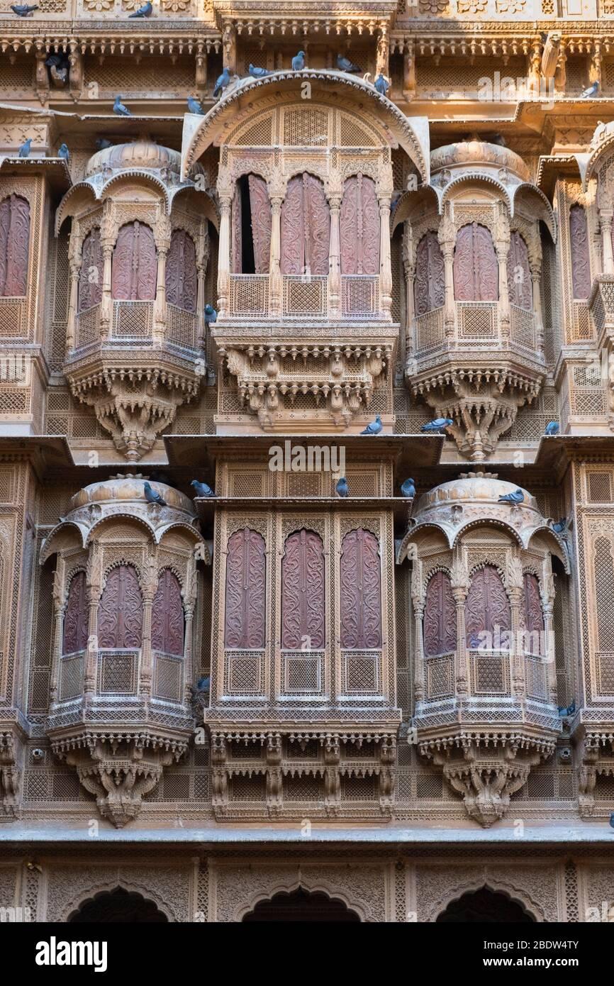 Patwa-ki-Haveli Jaisalmer Rajasthan Inde Banque D'Images