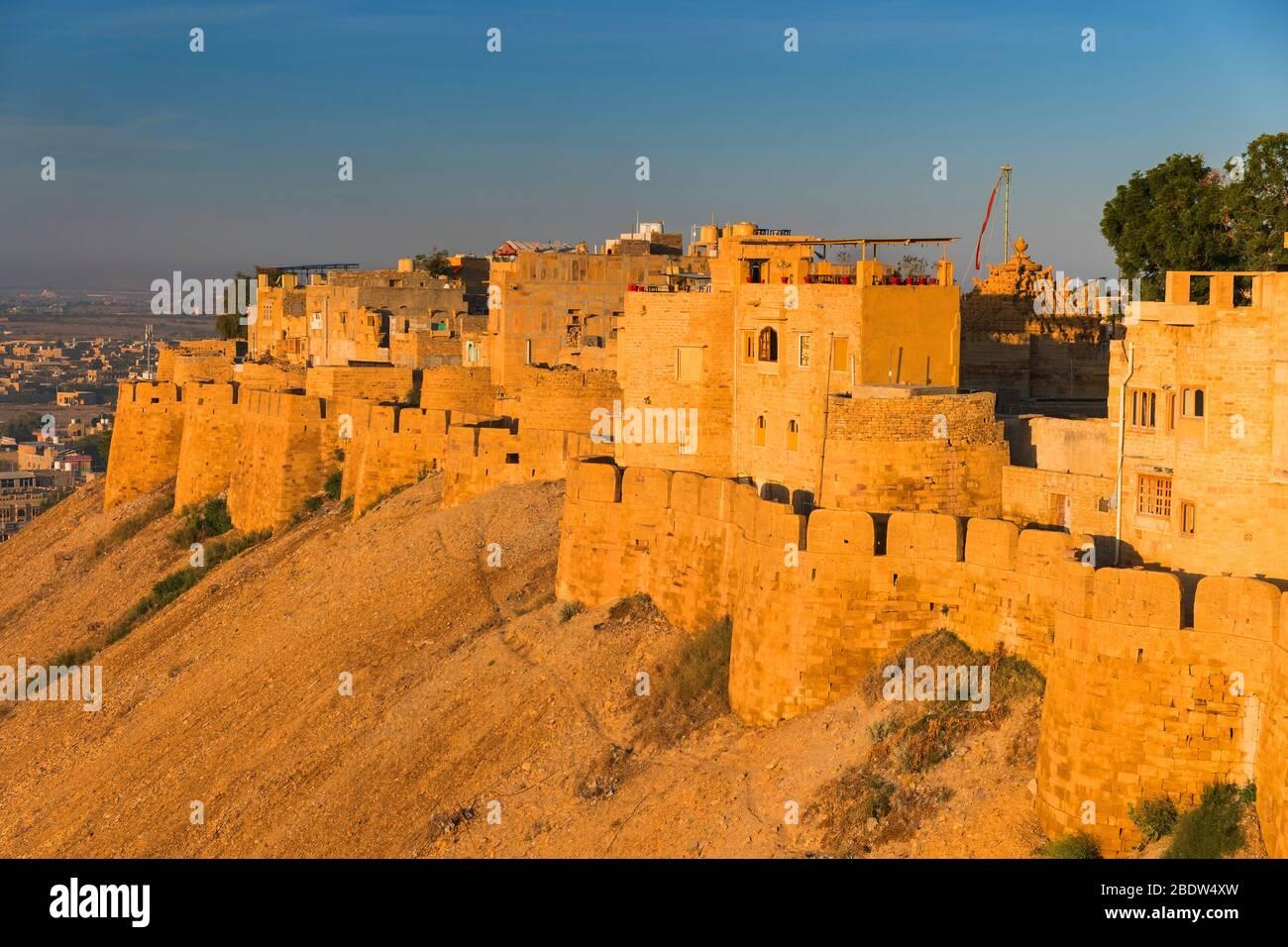 Jaisalmer fort à la première lumière Rajasthan Inde Banque D'Images