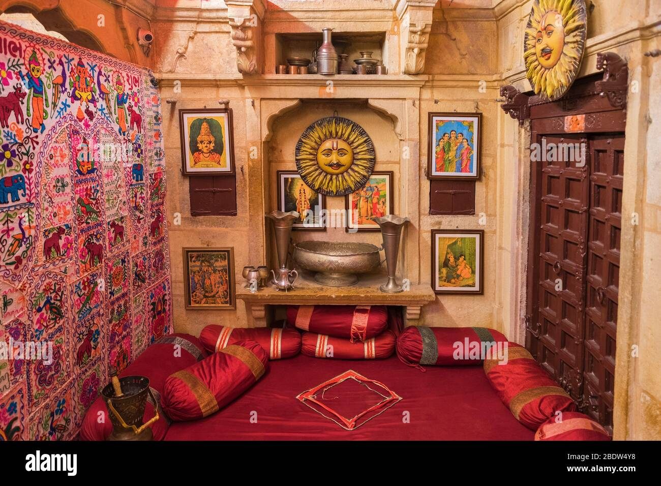 BAA Ri Haveli Jaisalmer fort Rajasthan Inde Banque D'Images