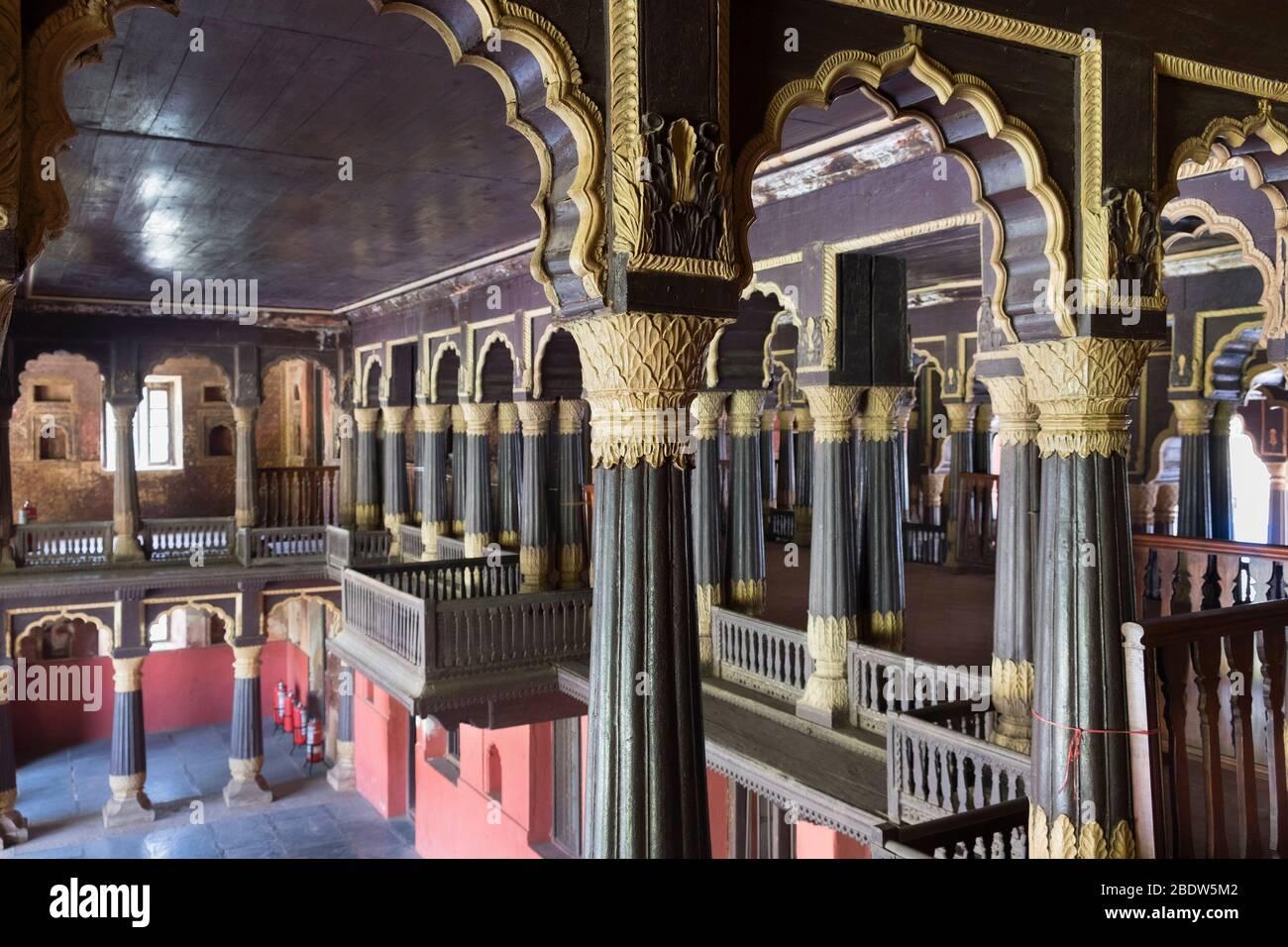 Palais d'été du Tipu Sultan Bangalore Karnataka Inde Banque D'Images