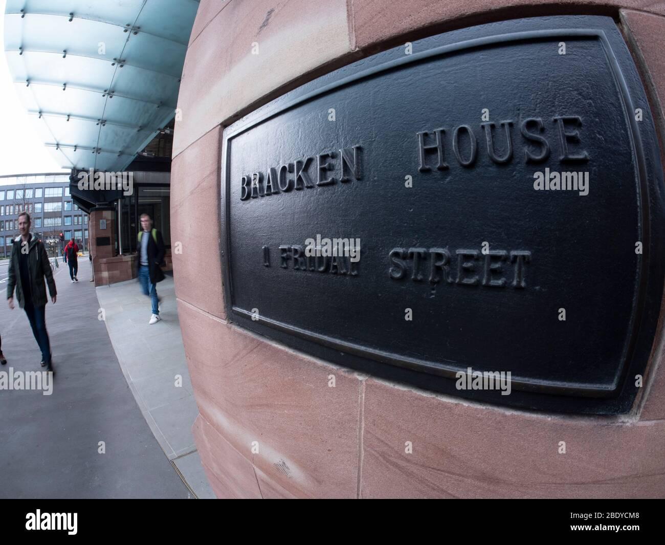 Extérieur Bracken maison siège de Nikkei et le Financial Times Londres Banque D'Images