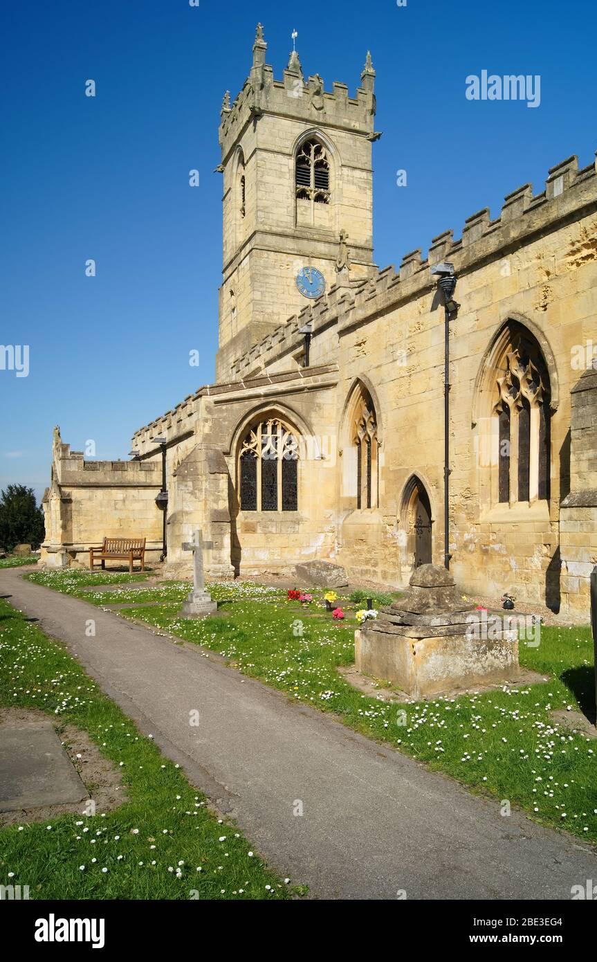 Royaume-Uni, Yorkshire du Sud, Barnburgh, église St Peter Banque D'Images