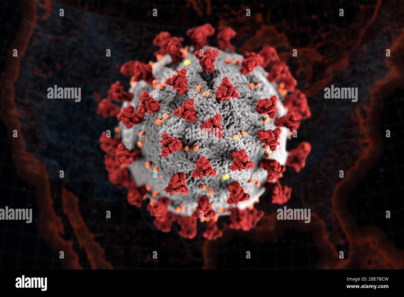 COVID-19 coronavirus aux États-Unis. Banque D'Images
