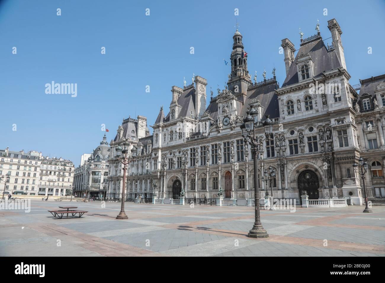 HÔTEL DE VILLE, PARIS Banque D'Images