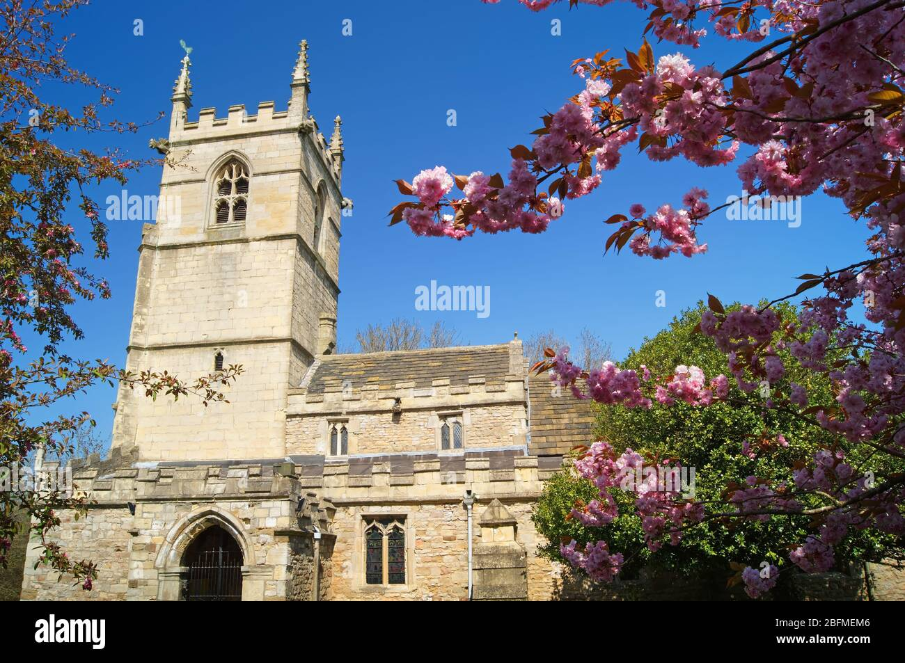 Royaume-Uni, Yorkshire du Sud, Doncaster, High Melton, Église St James Banque D'Images