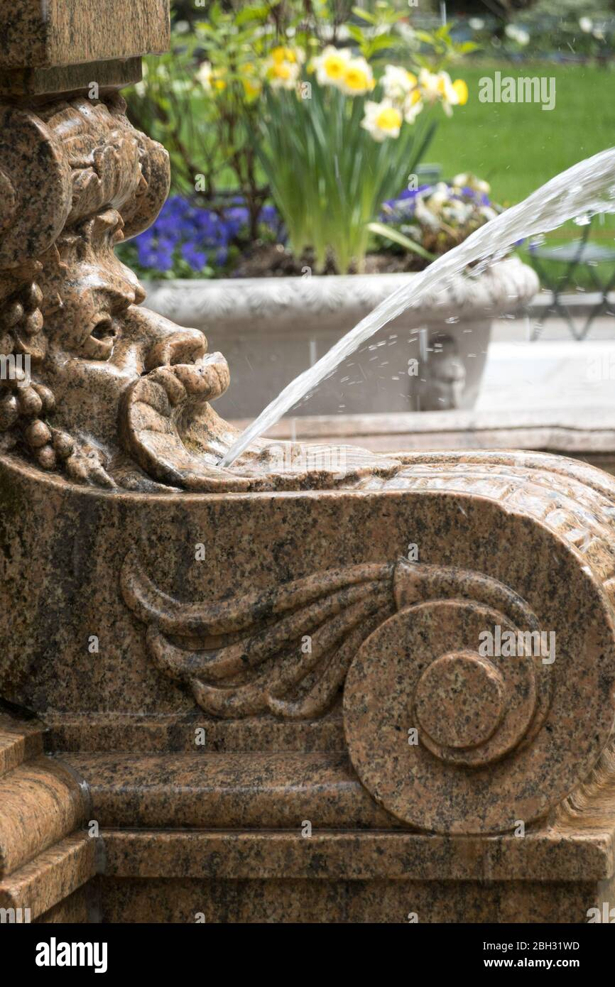 La Josephine Shaw Lowell Memorial Fountain, Bryant Park, NYC Banque D'Images