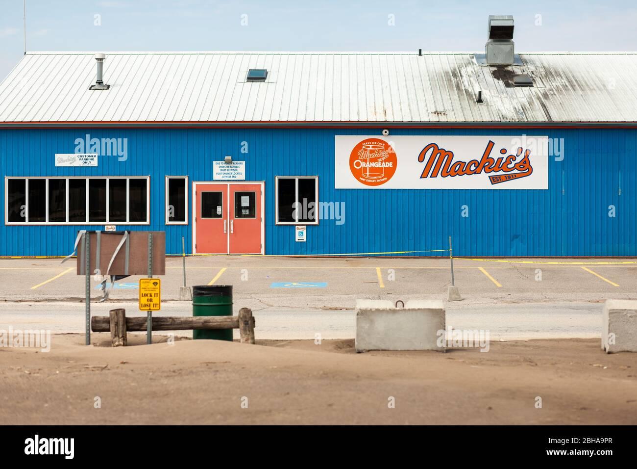 Mackies sert ses orangeade et ses frites depuis 1911. Comme beaucoup d'autres se sont retardants il est fermé à la suite de COVID-19 dans po Banque D'Images