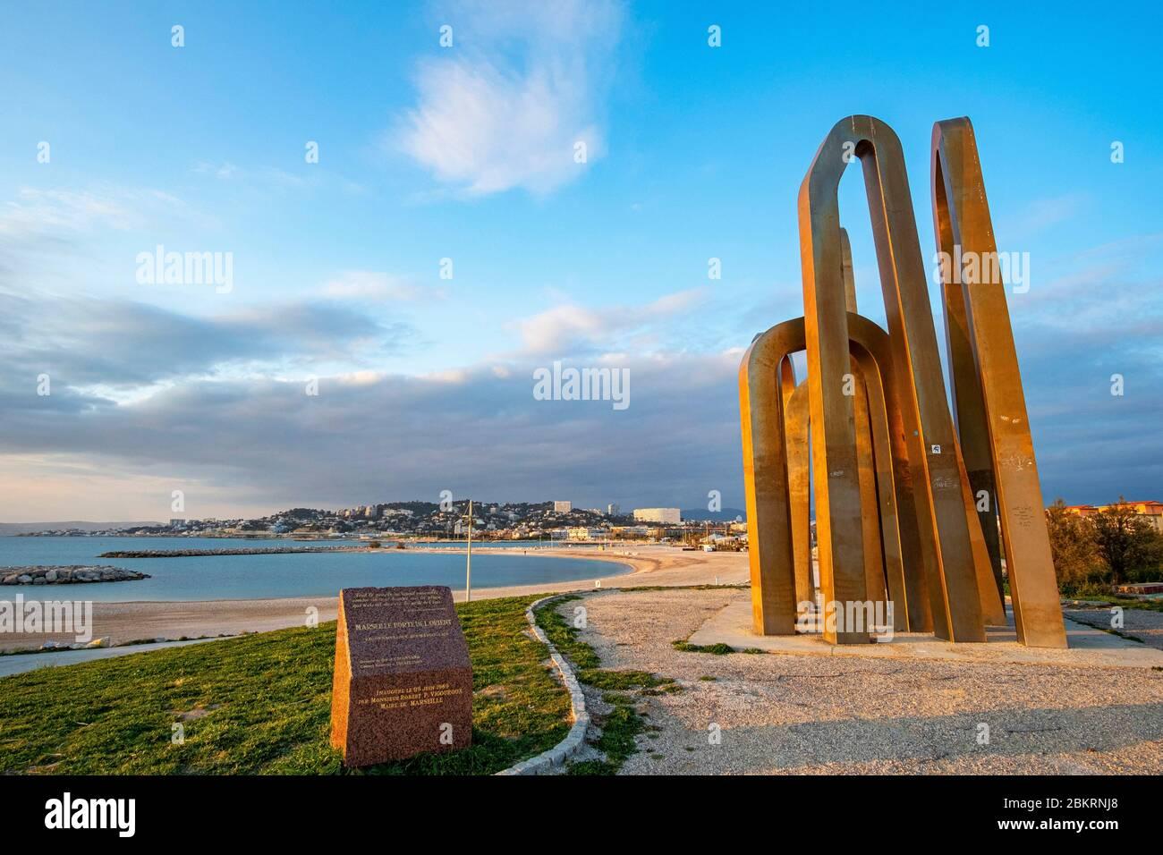 France, Bouches du Rhône, Marseille, les plages du Prado, les 7 portes de Jérusalem Banque D'Images