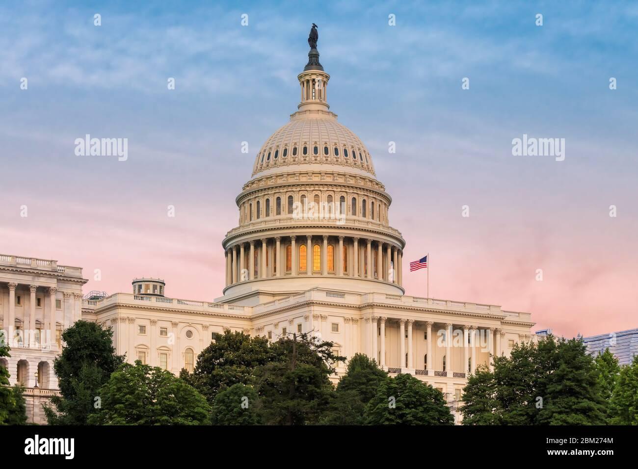 Bâtiment du Capitole DES ÉTATS-UNIS à Washington DC Banque D'Images