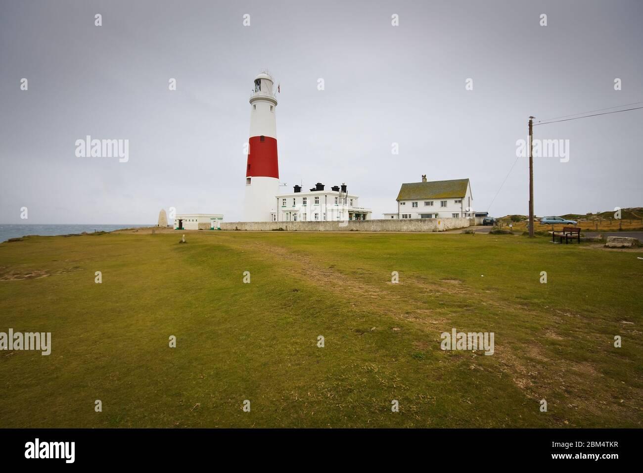 Portland Bill lighthouse dans le Dorset, UK. Banque D'Images