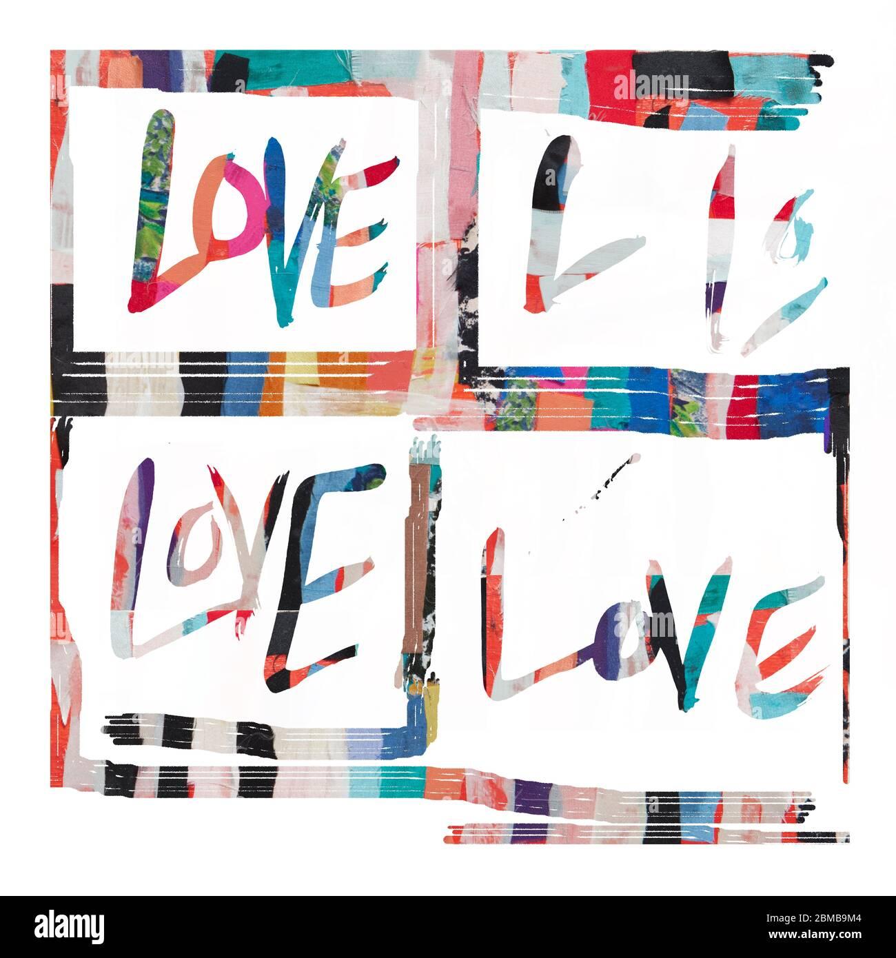 L'amour est tout ce dont nous avons besoin Banque D'Images