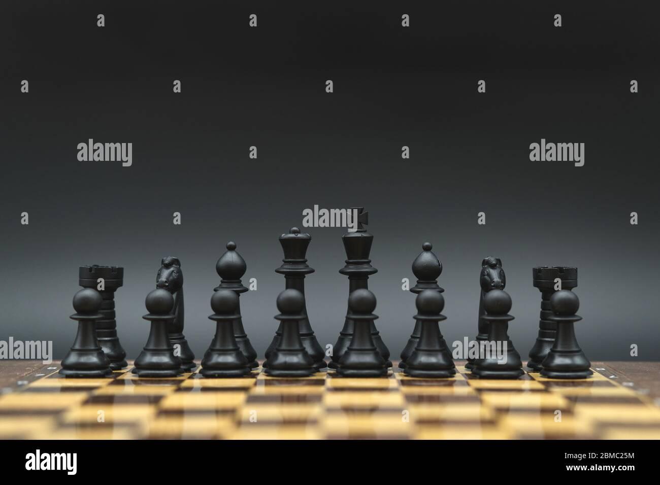 jeu d'échecs de stratégie tourné en studio Banque D'Images