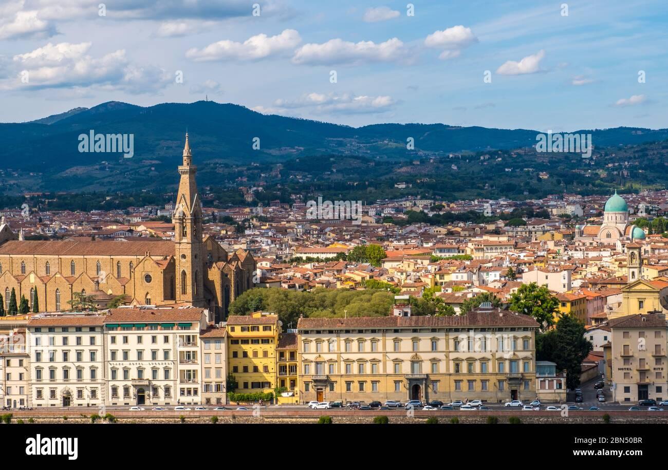 Florence, Italie - 16 août 2019 : vue sur le paysage de la Toscane, Italie Banque D'Images