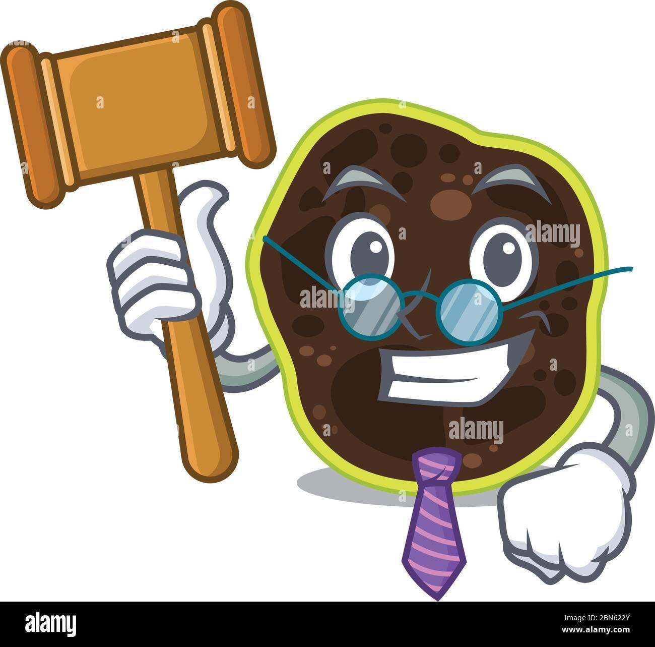Un sage juge de firmicutes conception mascotte portant des lunettes Illustration de Vecteur