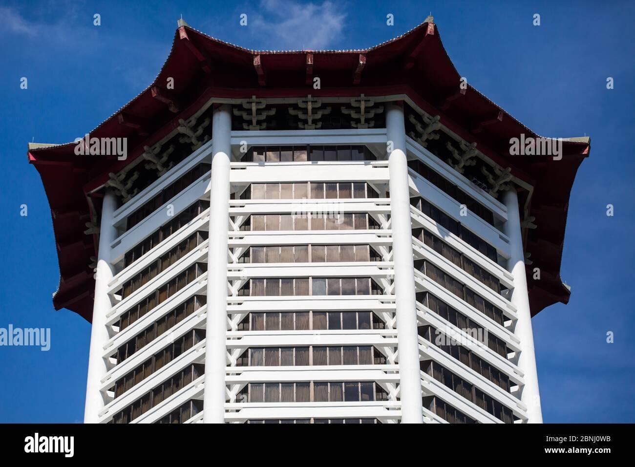 Architecture de l'hôtel Singapore Marriott Tang Plaza Banque D'Images