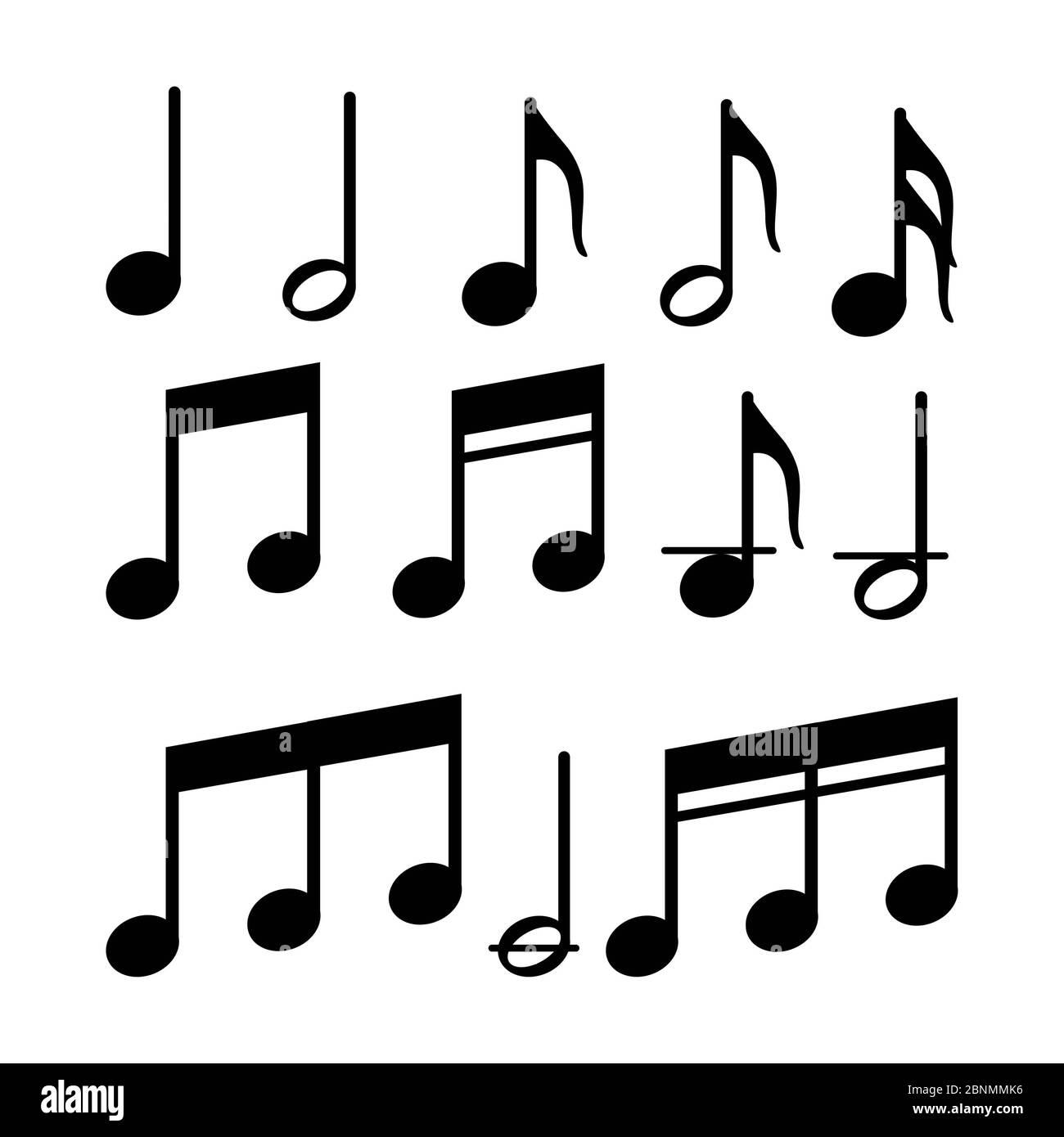 Music Note Symbol Icon Vector Banque D Image Et Photos Page 2 Alamy