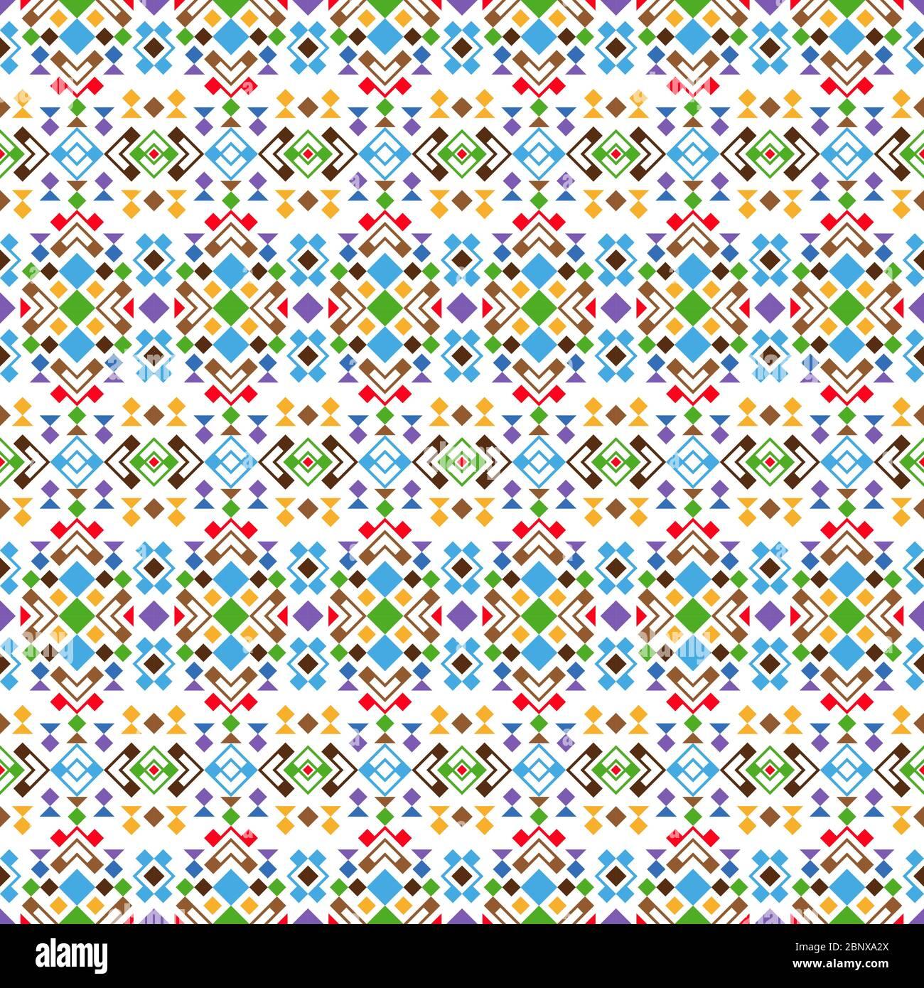 Motif géométrique moderne coloré sur fond blanc. Illustration vectorielle Illustration de Vecteur