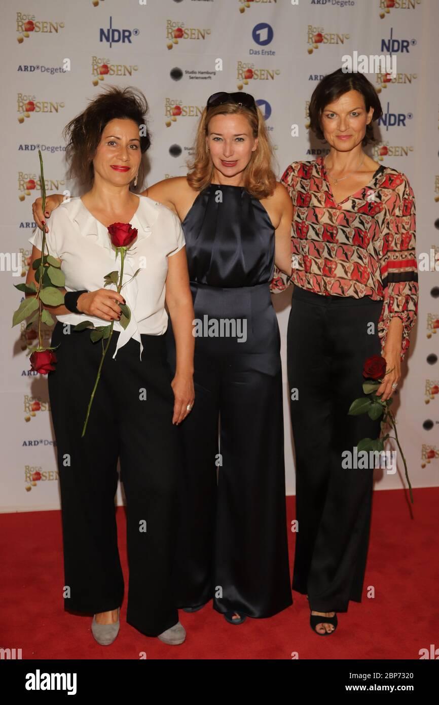 Annet Kruschke,Birgit Wuerz,Mona Klare,3000 épisodes Roses rouges,Castanea Forum,Lüneburg,10.08.2019 Banque D'Images