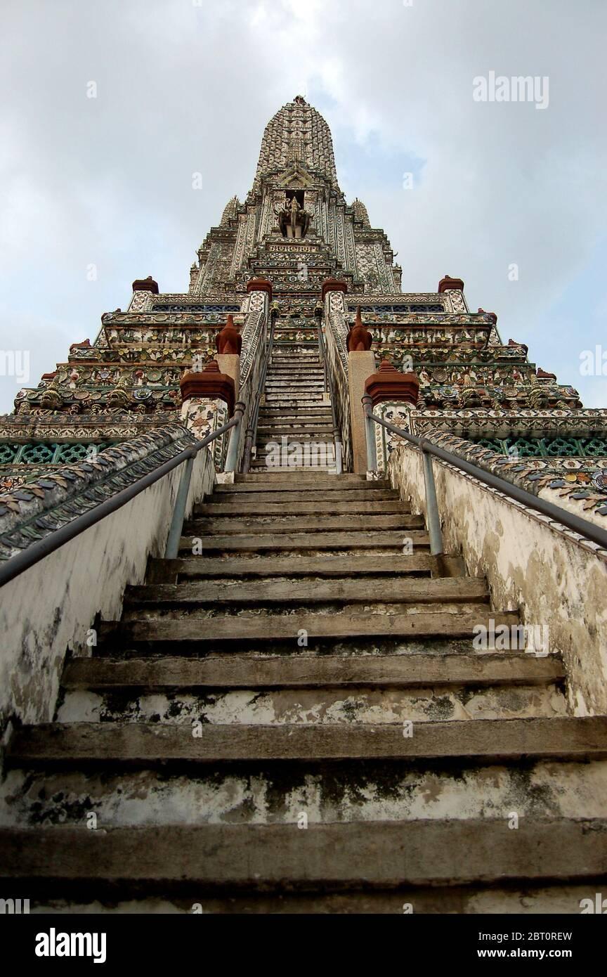 Le Grand Palais, une attraction incontournable de Bangkok, Thaïlande. Banque D'Images