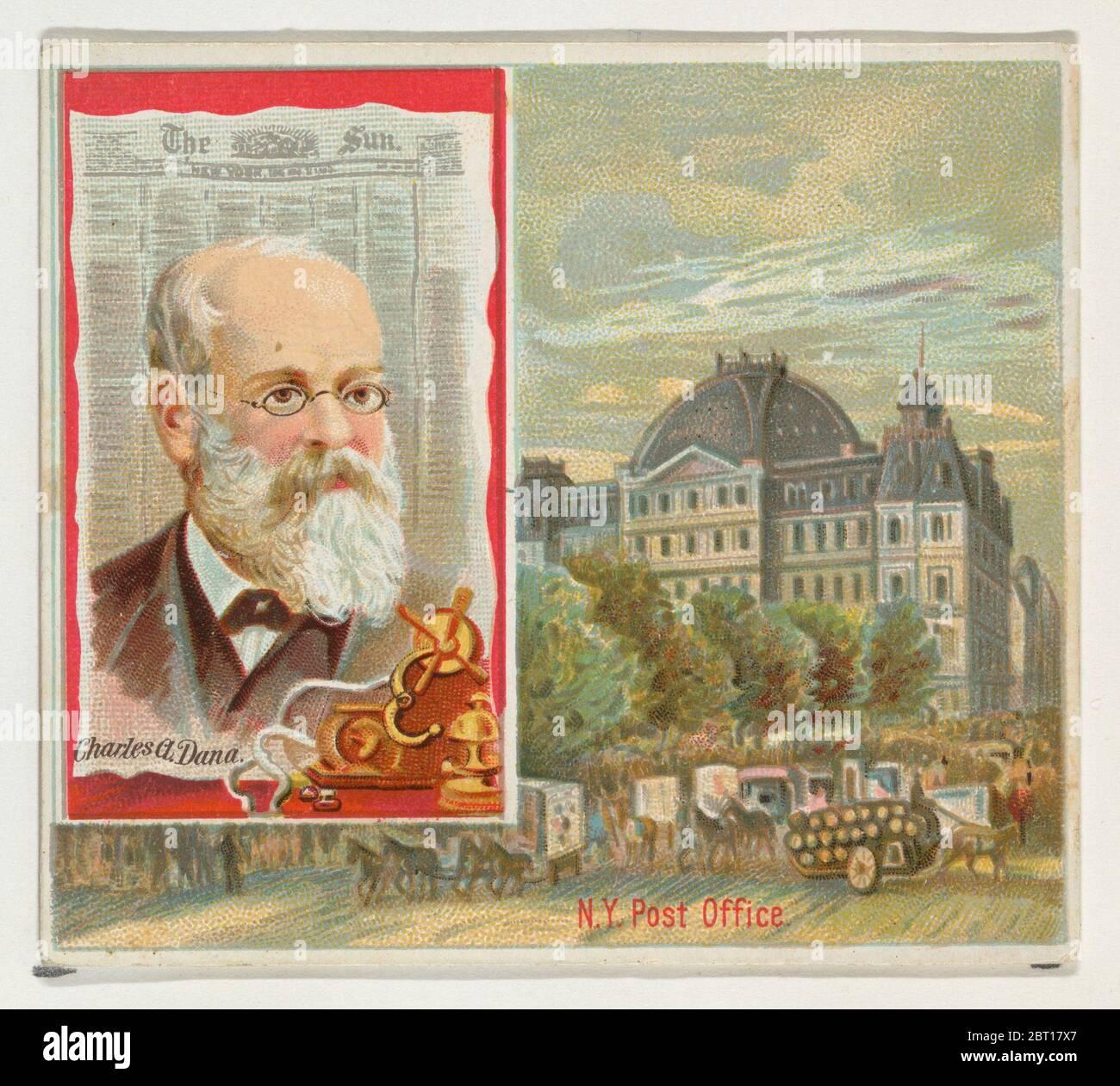 Charles A. Dana, The New York Sun, de la série des éditeurs américains (N35) pour Allen & amp ; Ginter cigarettes, 1887. Banque D'Images