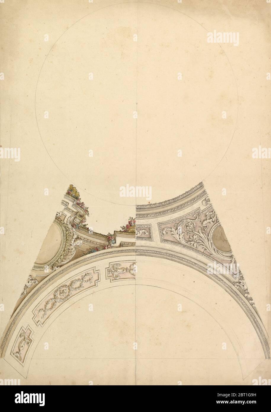 Design plafond, XVIIIe siècle. Banque D'Images