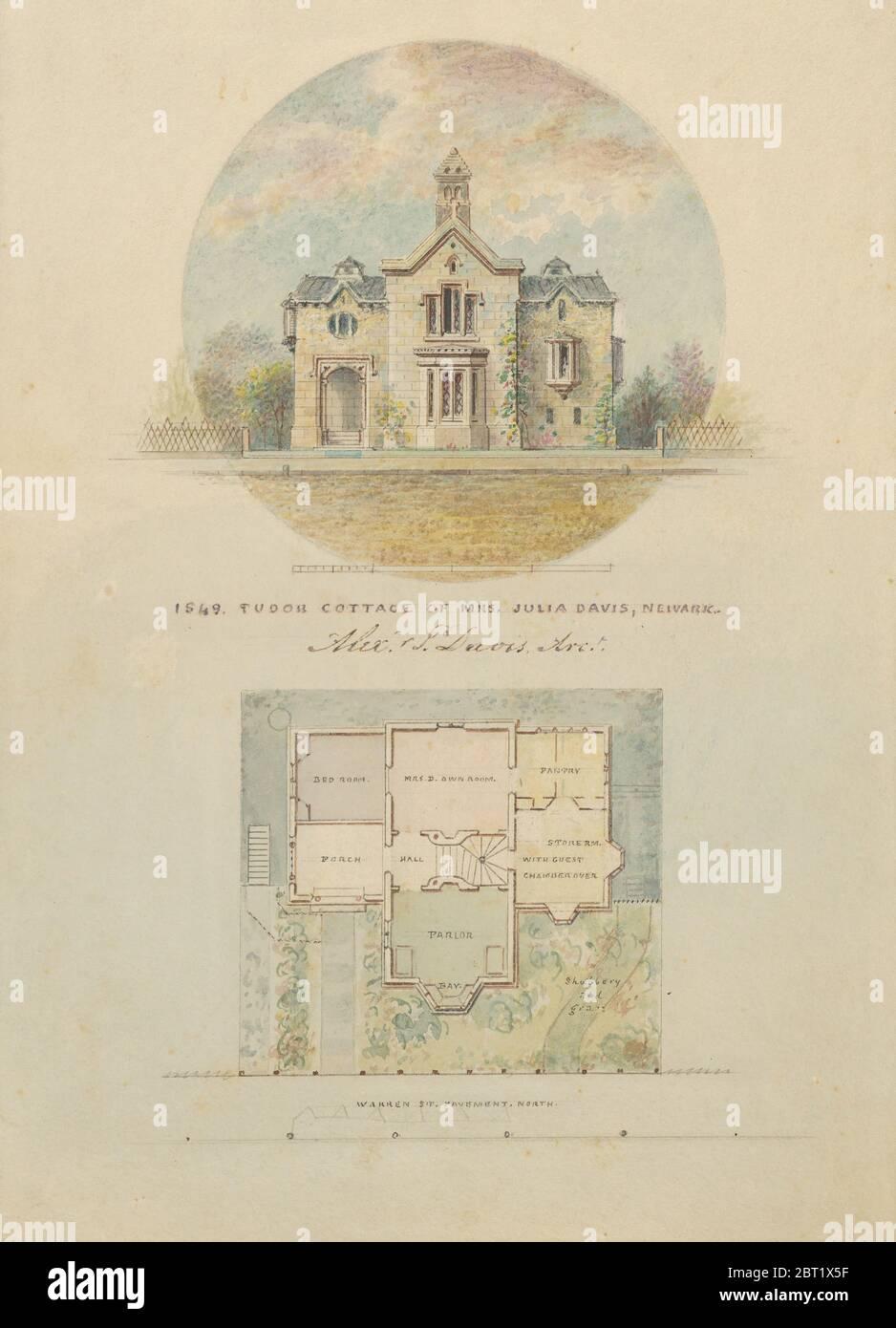 Kirri Cottage pour Julia Jackson Davis, 1849. Banque D'Images