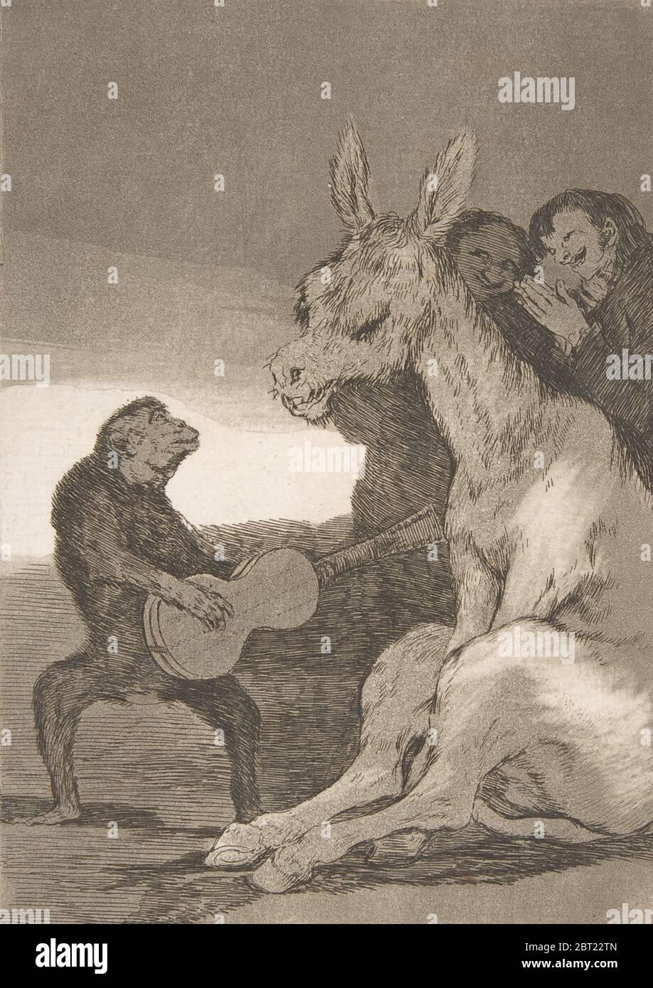 Assiette 38 de 'Los Caprichos': Bravo! (Brabisimo!), 1799. Banque D'Images
