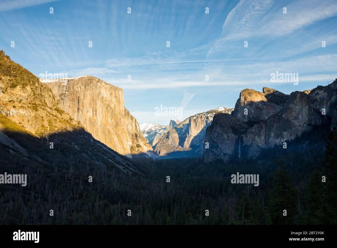 Parc national de Yosemite à Sunrise, Californie, États-Unis Banque D'Images