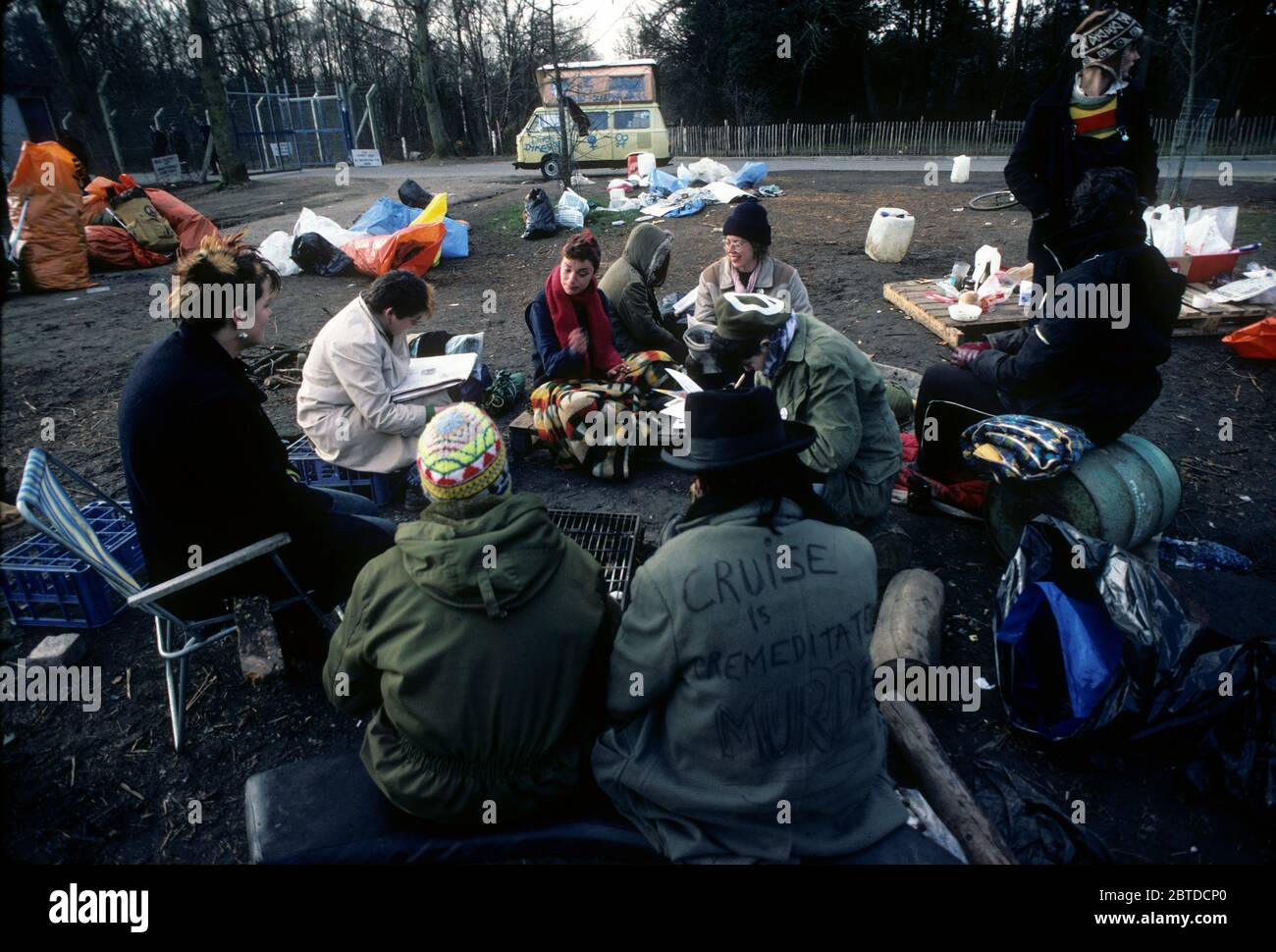 Camp de paix de Greenham, 1982 Banque D'Images